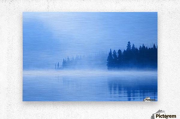 Foggy Lake  Metal print