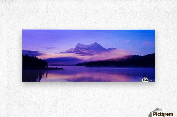 Beautiful Mountain Scenery  Metal print