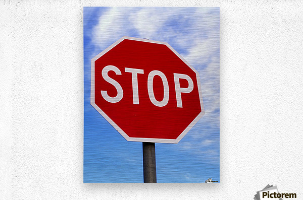 Stop Sign; Ireland  Metal print