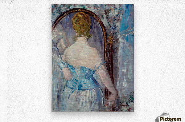 Before the Mirror by Manet  Metal print