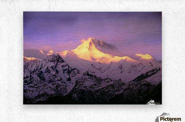 Annapurna South At Sunrise, Nepal  Metal print