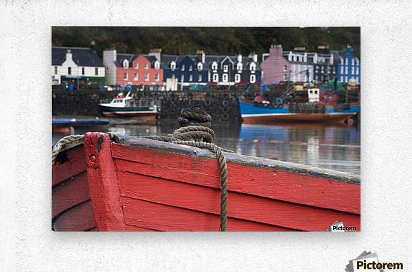 Closeup Of The Bow Of A Boat, Tobermory, Isle Of Mull, Scotland  Metal print