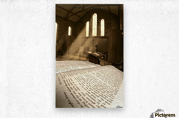Church, Rosedale, West Yorkshire, England  Metal print