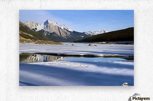 Medicine Lake, Jasper National Park, Alberta, Canada  Metal print