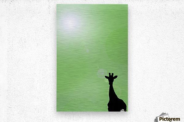 Silhouette Of A Giraffe  Metal print