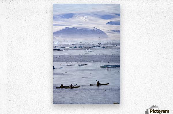 Kayaking, Nunavut, Canada  Metal print