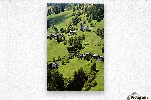 Mountain Village In Dolomites, Italy  Metal print