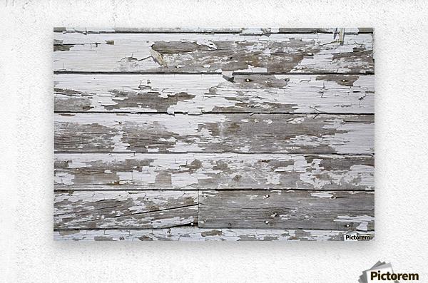 Paint Peeling Off Wood  Metal print