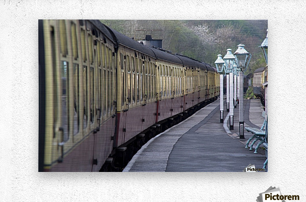 Train Station, Grosmont, North Yorkshire, England  Metal print