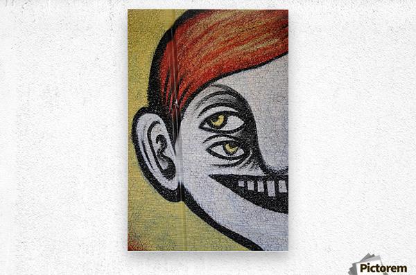 Half face  Metal print
