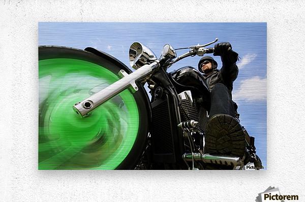 Man Riding A Motorbike  Metal print