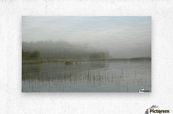 Lake Of The Woods, Ontario, Canada; View Across Lake At Sunrise  Metal print