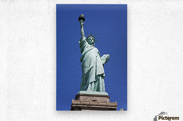 Statue Of Liberty, Lower Manhattan, New York City, New York, Usa  Metal print