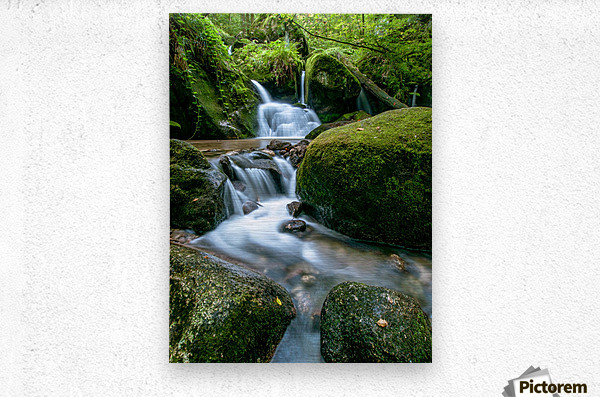 Small Waterfall in the German Black Forest  Metal print
