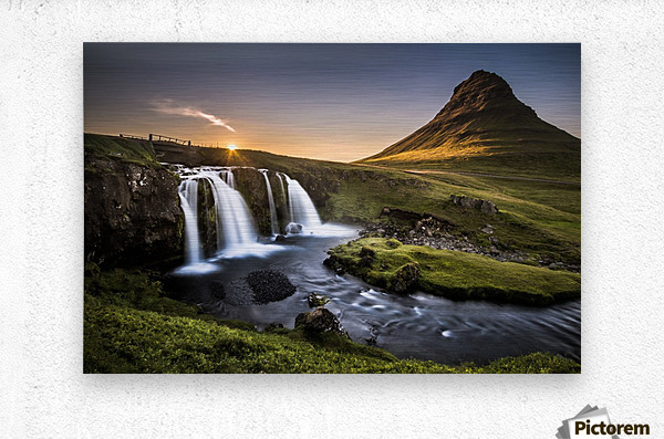 Fairy-Tale Countryside in Iceland  Metal print