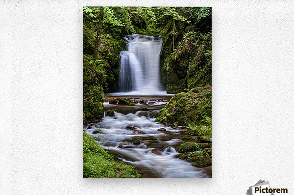 Watefall in the Black Forest in Germany  Metal print
