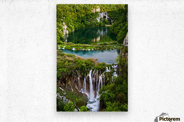 Waterfall Paradise Plitvice Lakes in Croatia  Metal print