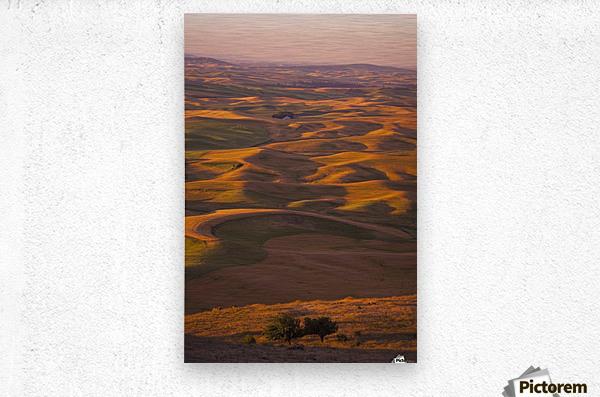 Hilly Landscape  Metal print