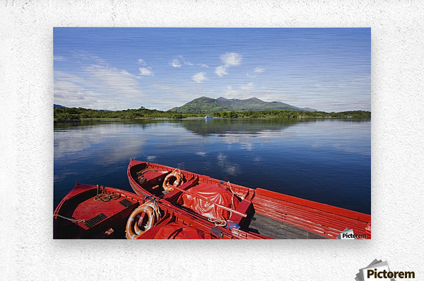 Killarney, County Kerry, Munster, Ireland; Two Boats In The Water  Metal print