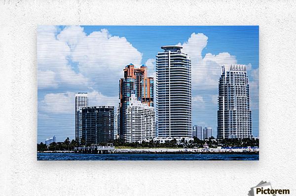 SOFI South of Fifth Miami  Metal print