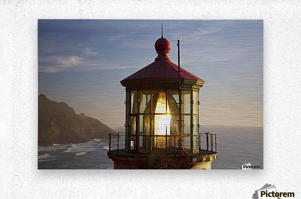 Heceta Head Lighthouse Along The Oregon Coast; Florence, Oregon, United States Of America  Metal print