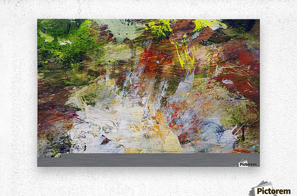 Abstract Oil Painting On Canvas  Metal print