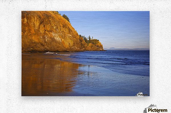 Cape Disappointment Lighthouse; Ilwaco, Washington, United States of America  Metal print