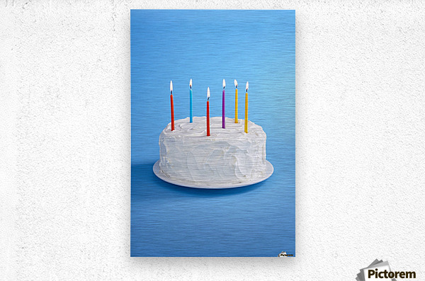 Birthday Cake With Candles  Metal print