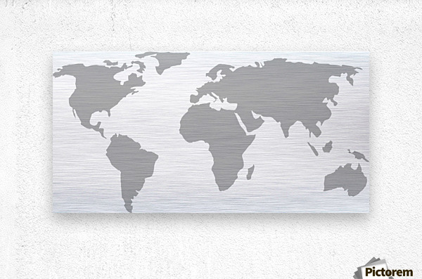 World map grey style worldflag canvas world map grey style metal print gumiabroncs Images