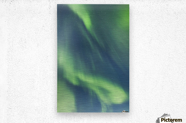 Northern Lights In The Sky Above The Chena Lakes Recreation Area; Fairbanks, Alaska, United States Of America  Metal print
