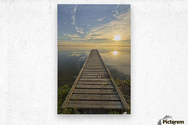Wharf, Queen Elizabeth Provincial Park; Alberta, Canada  Metal print