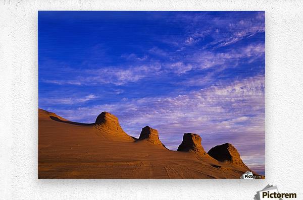 Storms carve sand dunes in peaks; Lakeside, Oregon, United States of America  Metal print