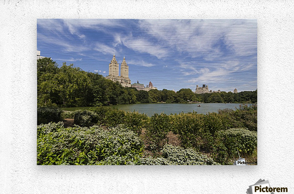 The Lake in Central Park, New York City, New York, United States  Metal print