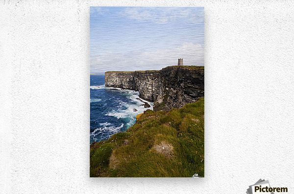 Marwick Head RSPB Nature Reserve, Kitcheners Monument; Orkney, Scotland  Metal print