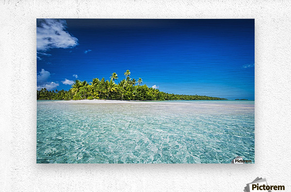 An island that forms part of the marine park, near the Tuvalu mainland; Tuvalu  Metal print