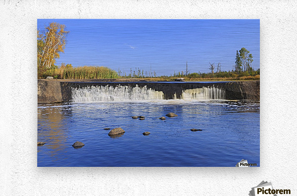 Rainbow Falls on the Whiteshell River in autumn, Whiteshell Provincial Park; Manitoba, Canada  Metal print
