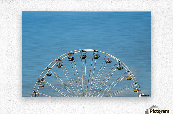 Ferris wheel at the Central Pier; Blackpool, England  Metal print