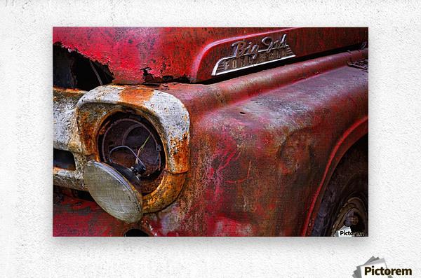 Detail of fire truck that belonged to Kodiak Volunteer Fire Department; Kodiak, Alaska, United States of America  Impression metal