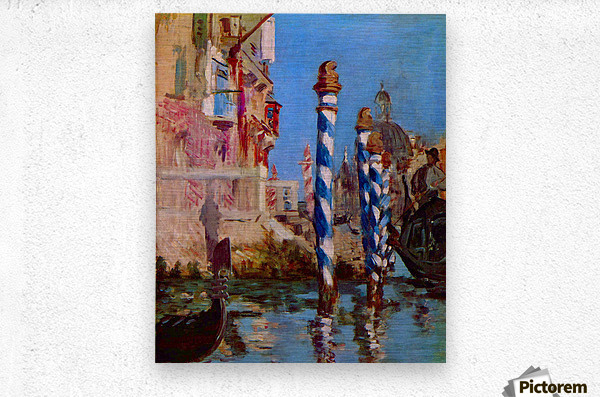 Grand Canal in Venice by Edouard Manet  Metal print