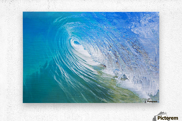 Blue Ocean Wave  Metal print
