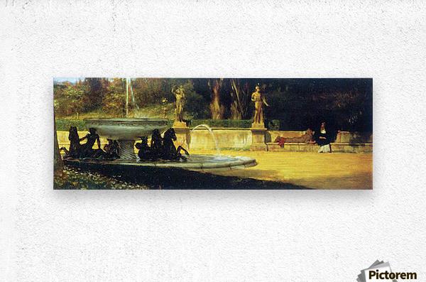 Roman Garden by Alma-Tadema  Metal print