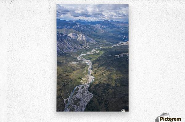 Aerial View of the Brooks Range in summer, ANWR, Alaska  Metal print
