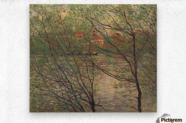 His bank, the Ile de la Grande Jatte by Monet  Metal print