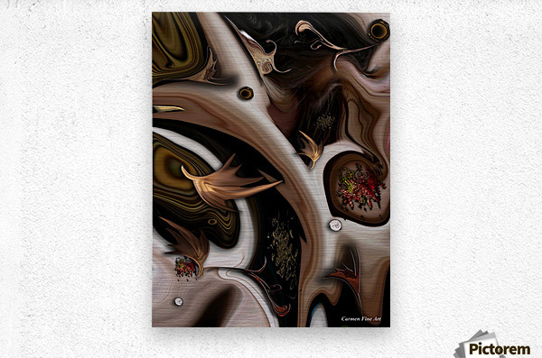 Juxtaposed Nature I  Metal print