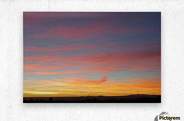 Amazing Sunset 4VP  Metal print