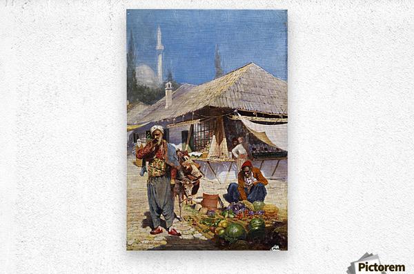 Mielich Orientalische Marktszene  Metal print