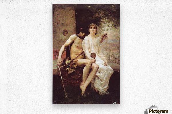 Lycenion et Daphnis  Metal print