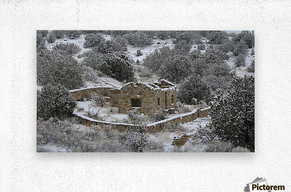 Ruins - Juan Tabo in Snow 2VP  Metal print