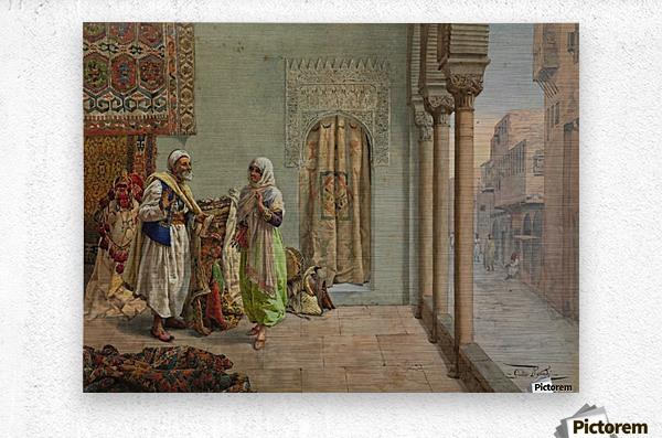 An Oriental Bazaar  Metal print