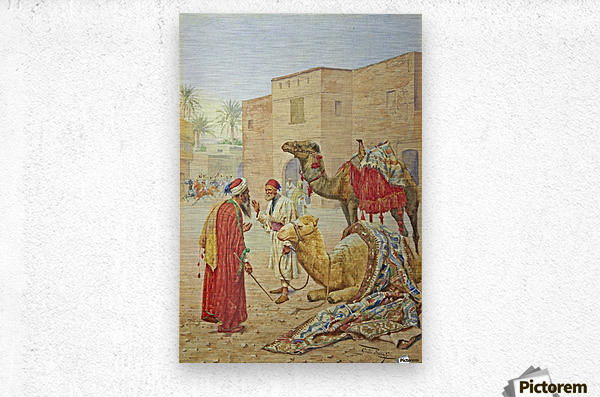 The camel seller  Metal print